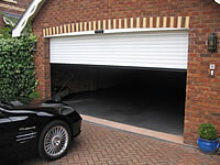 Domestic garage door picture