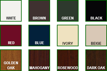 Garage door colour options